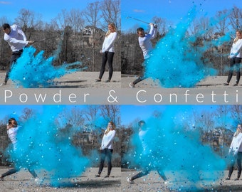 Golf Ball Powder & Confetti Gender Reveal Golf Ball in Pink or Blue! Designed with 4x Powder and Confetti! Don't Be Scammed by Knock Offs