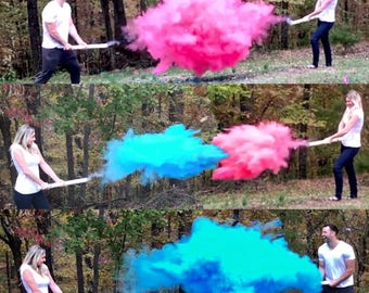 "24"" Smoke Powder Cannon™ in Pink Blue White"