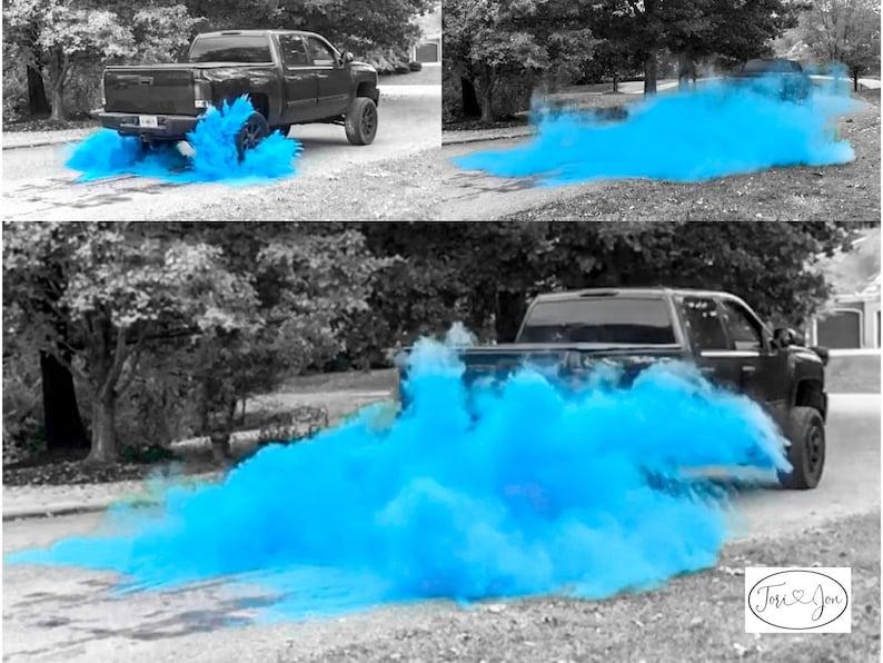 Burnout Gender Reveal Black Tire Pack in Pink Blue Orange image 0