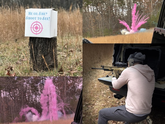 15LB Powder Box Target™  Shooting Target Gender Reveal Creative Gender Reveal Idea! Pink, Blue, Green Holi Powder Target for Gender Reveal