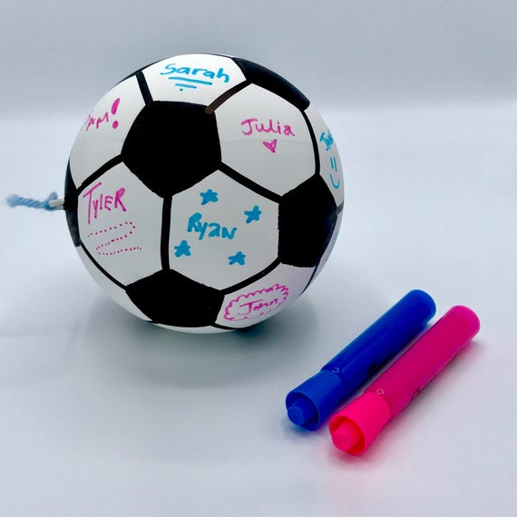 NEW* SOCCER BALL Customizable Gender Reveal Ball By Poof There It Is!  (Custom Combinations)