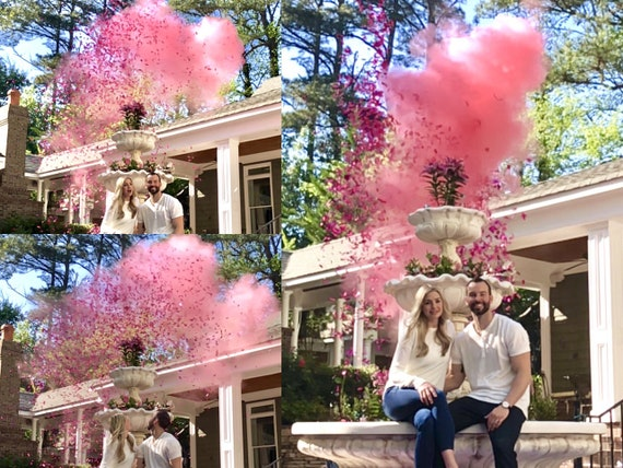 "12"" Confetti Cannon & Powder Cannon Gender Reveal Smoke Powder Cannons and Confetti cannons!  New Gender Reveal Idea! Creative Poppers!"