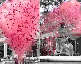 "24"" Confetti & Powder Cannon Gender Reveal Both Smoke Powder and Confetti in one Cannon! Smoke Powder Cannons and Confetti Cannons Pink Blue"