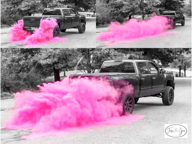 3LB Premium Burnout Gender Reveal Simple Black Tire Pack in image 0