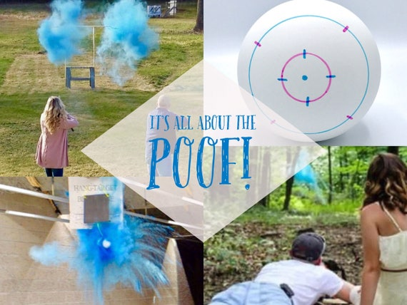 Gender Reveal Shooting Target Shooting Target Ball in Pink or Blue! Pair w/ Our Banners Buck or Doe Rifles or Ruffles Guns or Glitter
