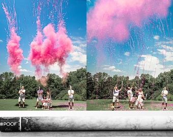 """Confetti+Powder+Streamers Gender Reveal Cannon Smoke Powder, Confetti, and Streamers in one Cannon! 32"""" Pink or Blue"""
