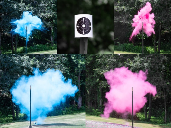 Shooting Target Gender Reveal, Skeet Shooting Targets, XL Hanging Targets in Pink, Blue, Green, Purple, Yellow, and Orange Powder Confetti
