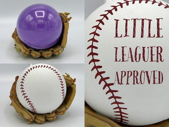 BASEBALLS Gender Reveal Ball Pink & Blue Laces or Question Marks