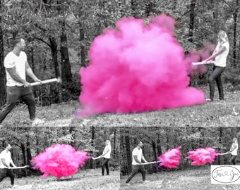 """24"""" Smoke Powder Cannon™ Confetti Cannons and Powder/Confetti Cannons in Pink Blue White for Gender Reveals Powder Cannons! As seen on TV!"""