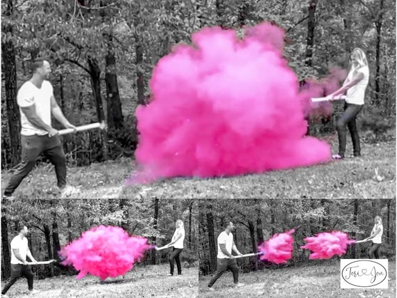 "24"" Smoke Powder Cannon™ in Pink, Blue, White"