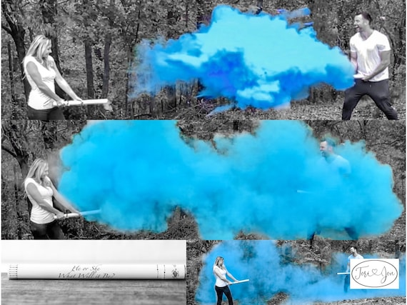 "24"" Smoke Powder Cannon™ Pink Blue White"