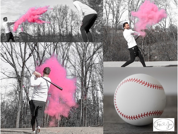 XL Baseball Gender Reveal! Gender Reveal Baseballs in Pink or Blue  Filled w/ Powder and or Confetti! Handmade Baseball