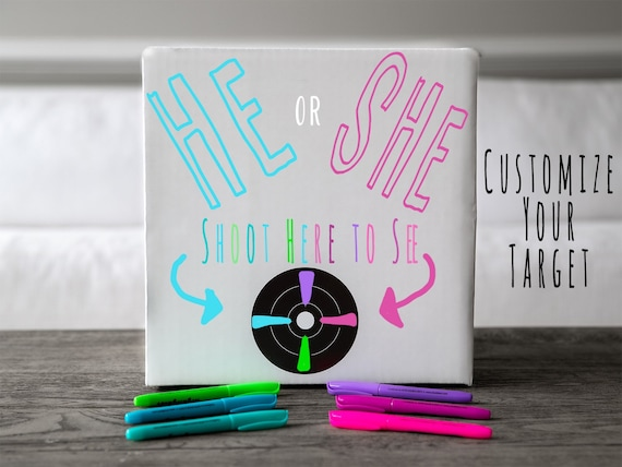 18LB Powder Box Target™  Shooting Target Gender Reveal Creative Gender Reveal Idea! Pink, Blue, Green Holi Powder Target for Gender Reveal