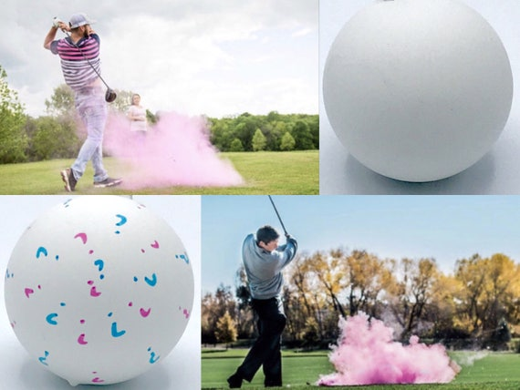 GOLF BALLS Gender Reveal Balls Pack (Custom Color Combinations and Styles) Golf Gender Reveal