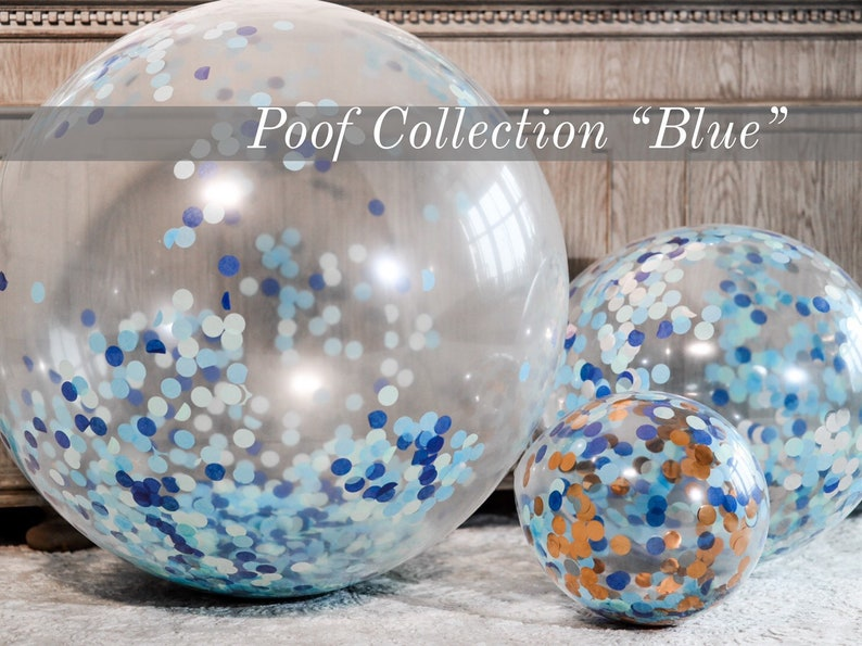 Confetti Balloons 36 24 12  for Gender Reveals from the Poof Collection\u2122 By Tori /& Jon\u2122 Designer Gender Reveal Decor Pair w Cannons