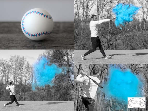 XL Baseball Gender Reveal! Gender Reveal Baseballs in Pink or Blue  Filled w/ Powder and or Confetti. Handmade Baseball