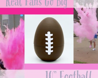 "10"" FOOTBALLS Gender Reveal Football with 8x Powder!!!!"