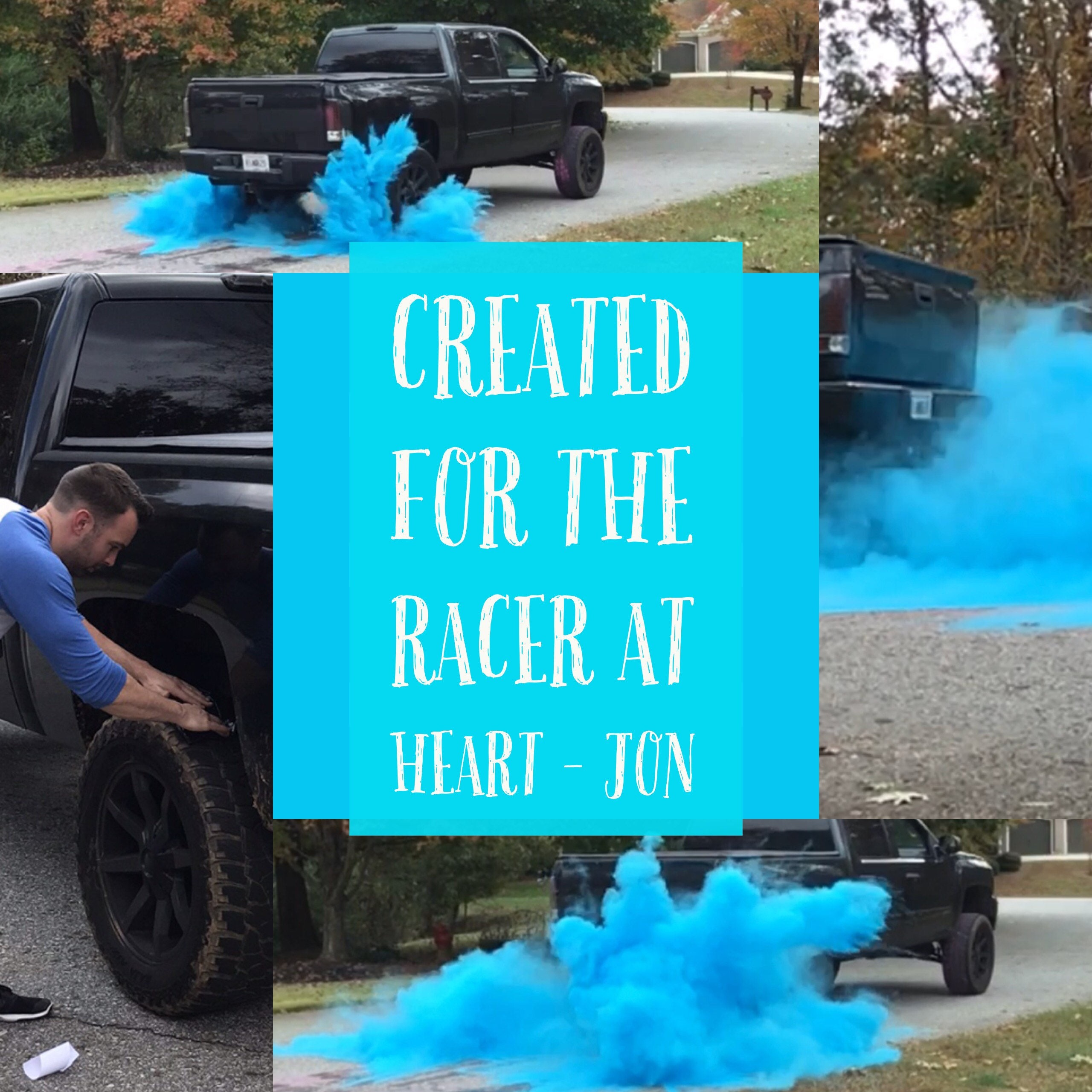 ORIGINAL BURNOUT Gender Reveal Simple Black Tire Pack for Peel Outs