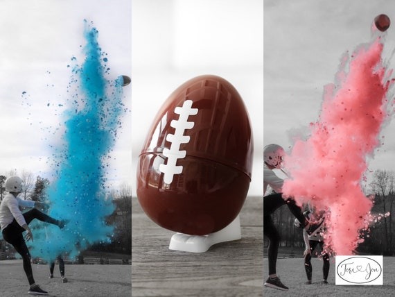 "Football Gender Reveal 10"" Filled with Powder & Confetti Gender Reveal Ball Gender Reveal Football Pink, Blue, Purple, Green, Yellow, Orange"