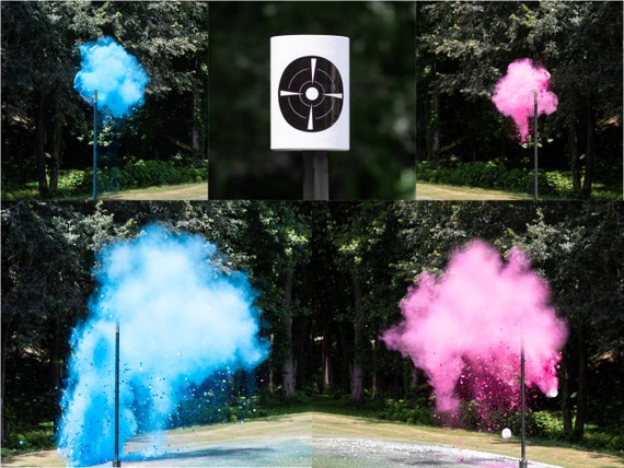 Powder Confetti Shooting Target Gender Reveal, Skeet Shooting Targets, XL Hanging Targets in Pink, Blue, Green, Purple, Yellow, and Orange