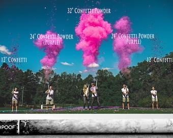 "32"" Confetti & Powder Cannon Gender Reveal Both Smoke Powder and Confetti in one Cannon! Smoke Powder Cannons and Confetti Cannons Pink Blue"
