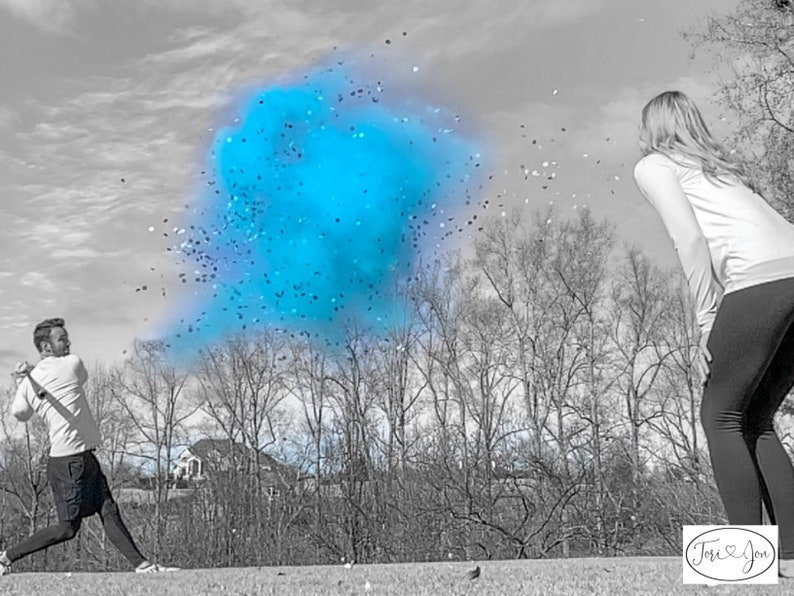 Gender Reveal Baseballs in Pink or Blue  Filled w Powder and or Confetti Pair with Our Cannons Handmade Baseball Gender Reveal Baseball