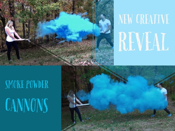 "24"" SMOKE POWDER CANNON ™ Gender Reveal Smoke Powder Cannons! New Gender Reveal Idea! Ships Same Day!"