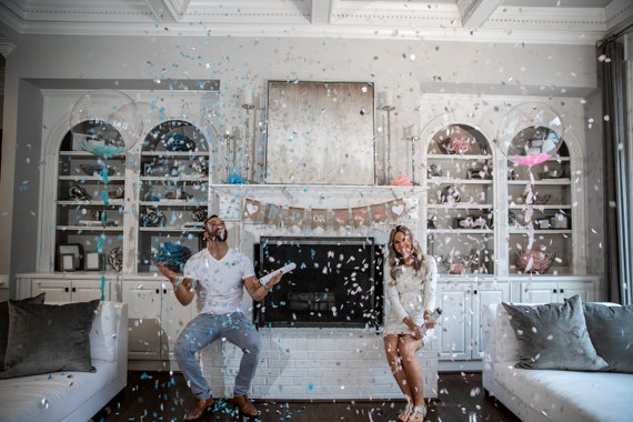 Gender Reveal Decor Set w/ Confetti Cannons for Gender Reveals  Venice Collection By: Tori & Jon™