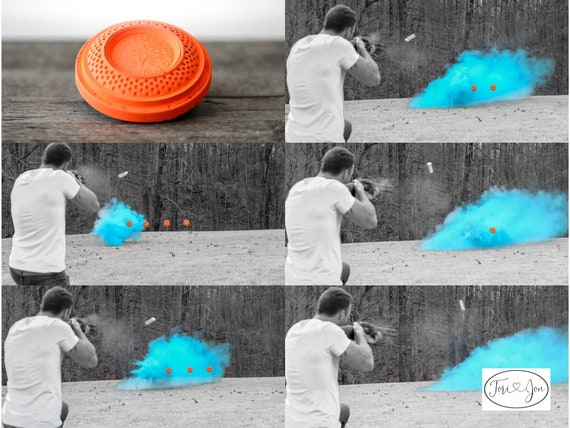 Gender Reveal Shooting Target Shooting Target Balls in Pink or Blue! Pair w/ Our Banners Buck or Doe Rifles or Ruffles Guns or Glitter Skeet