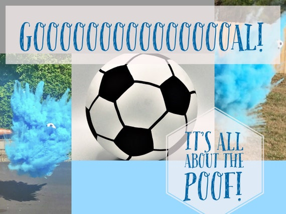 "6.25"" SOCCER BALL Gender Reveal Soccer Gender Reveal"