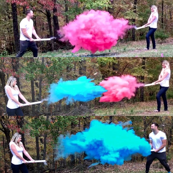 SMOKE POWDER CANNON ™ Ships Same Day! Gender Reveal Smoke Powder Cannons! New Gender Reveal Idea!