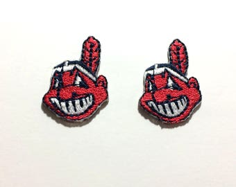 Cleveland Indians small embroidered Iron on Patches Old Logo style for hats 926231c7b7a3