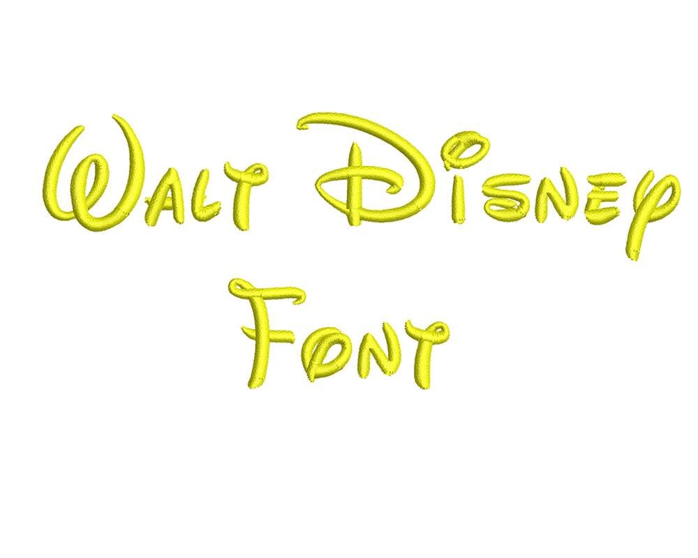 Fuente Walt Disney diseños de bordado patrones de diseños de | Etsy