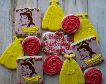 Belle Princess Sugar Cookies