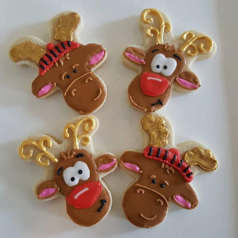 Christmas Reindeer Sugar Cookies
