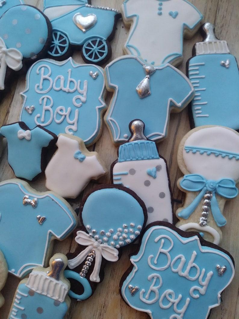 Baby Boy Sugar Cookies