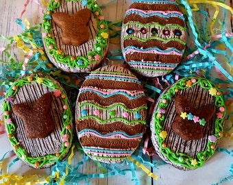 12 Rustic Chocolate Easter Egg Cookies