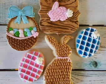 Rustic Easter Cookie Gift Box