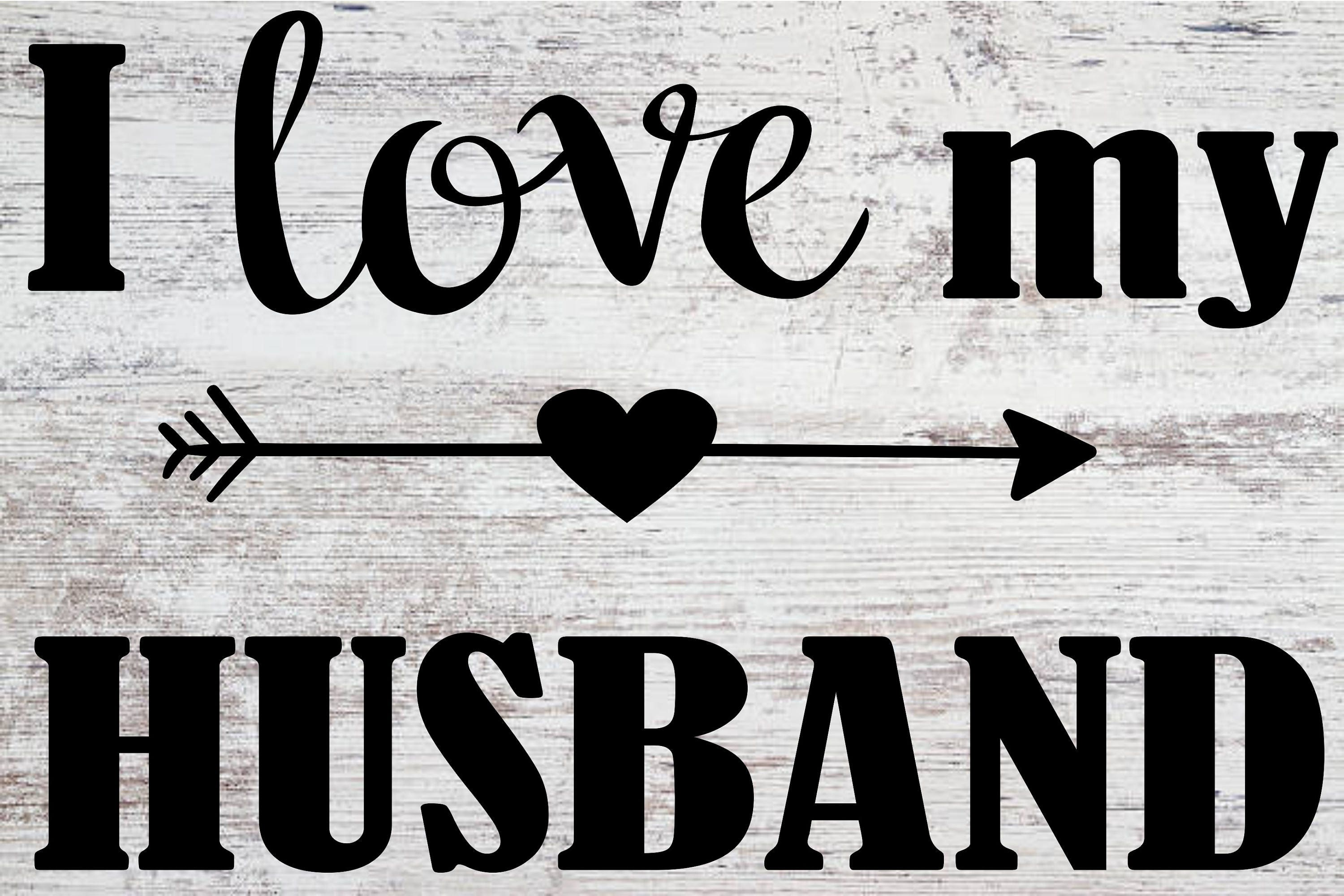 I Love My Husband Svg Etsy
