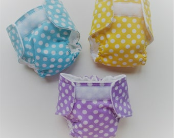 Doll Diapers - Baby Alive Diapers -Waterproof Doll Diaper-Doll Accessories-Baby Alive-Wetting Doll Diapers-Washable Diapers-Reusable Diapers