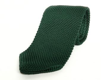Tie, knitted green tie wedding tie, grooms tie, green knitted tie, necktie, green tie
