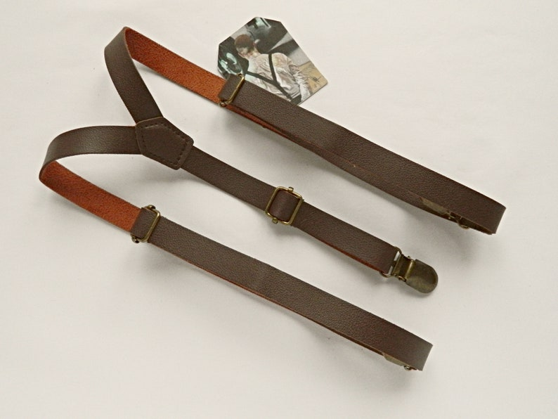 Men's Vintage Style Suspenders Braces Braces suspenders brown leather suspenders braces wedding braces faux leather braces dark brown suspenders grooms braces $22.71 AT vintagedancer.com
