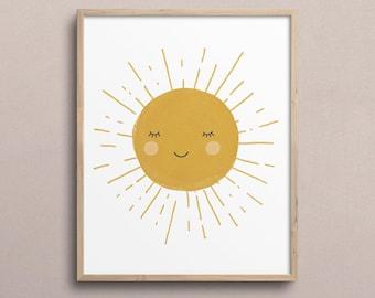 Child of the Sun Mixed Media Print 8 x 10