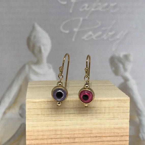 Vintage Evil Eye earrings / Eyeball earrings