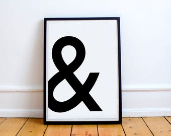 Ampersand // & // Wall Art // Prints // Minimalist