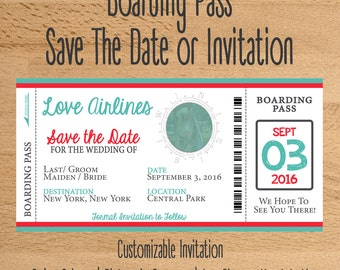Boarding Pass Invitation