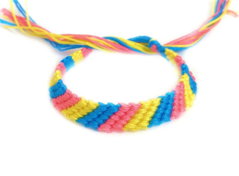 Pansexual flag bracelet