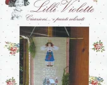 MY CHRISTMAS ANGEL Counted Cross Stitch Pattern from Designer Tania Santarelli of Lilli Violette Winter Church Scene Christmas Religious