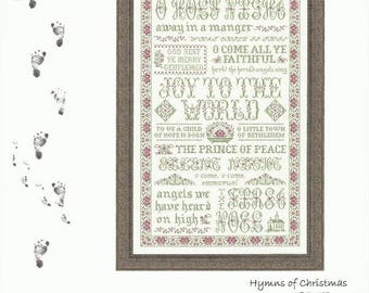 "HYMNS OF CHRISTMAS Counted Cross Stitch Pattern from My Big Toe Designs - Christmas Songs - 14 7/8"" x 23.75"" on 18/36 ct"
