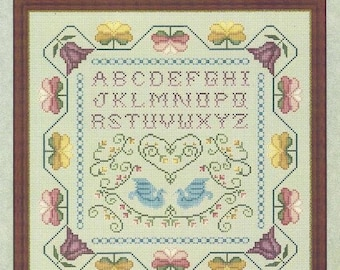 Country stitching colonial village stamped cross stitch kit.